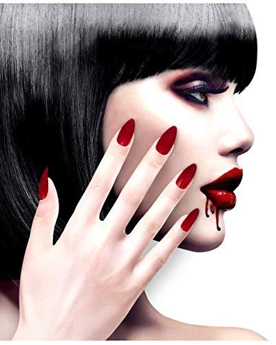 tto Fingernägel Rot / Bordeaux selbstklebend als Kostümzubehör ()