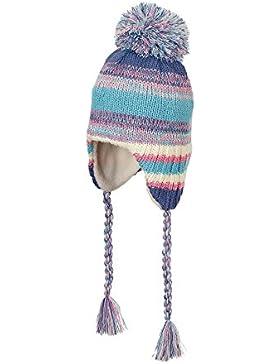 Sterntaler Strickmütze für Mädchen mit Bommel und Bindebändern