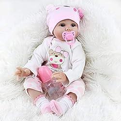 showkingL Neugeborenes Baby Realike Puppe Handgefertigt Lebensechte Silikon