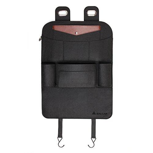 Luxusauto Organizer Salcar Auto Rücksitz für Kinder wasserdichter Regenschirm Rückenlehnen Tasche Kick Matten Schutz für iPad, Kindle, Getränke, Taschentuch usw.