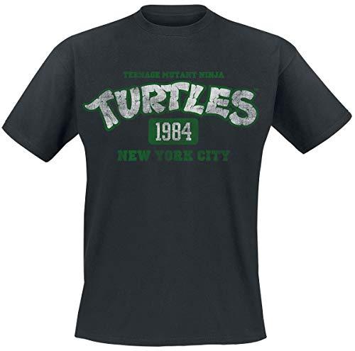 1984 Schwarzen T-shirt (Teenage Mutant Ninja Turtles 1984 T-Shirt schwarz XXL)