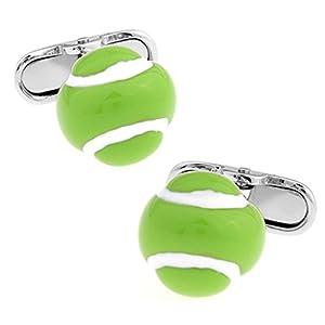 Ashton and Finch Tennisball Manschettenknöpfe. Neuheit. Sport. Tennis. Thema Schmuck