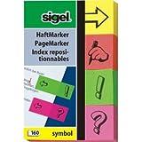 Sigel Haftmarker Symbol 50x80mm sortiert VE=4 Blöcke a 40 Blatt Stück