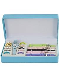 Box Reloj de Mujer - 5 Pulseras Intercambiables y Marca 11