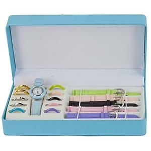 Coffret Montre Femme - 5 Bracelets et 11 Cadrans Interchangeables