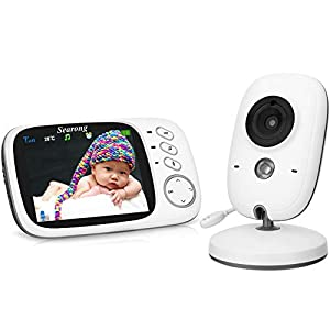 Baby Monitor, Video Baby Monitor Wireless Baby Camera with Night Vision, Digital 2.4Ghz Baby Monitor with Two-Way Audio, Lullabies Temperature   2