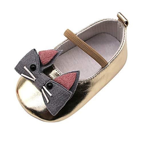 Precioul Baby Mädchen Bowknot Schuhe, Kinder Prinzessin Casual Flache Schuhe Plate Freizeitschuhe Seitenplatte Freizeitschuhe Schuhe Babyschuhe Cartoon-Katze