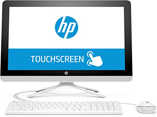 HP (22-b062ng) (1ED82EA) 54,6 cm (21,5 Zoll/FHD-IPS Touchscreen) All-in-One Desktop PC (AMD Quad-Core A6-7310 APU, 4 GB RAM, 1 TB HDD, AMD Radeon R4-Grafikkarte, Windows 10 Home 64) Weiß