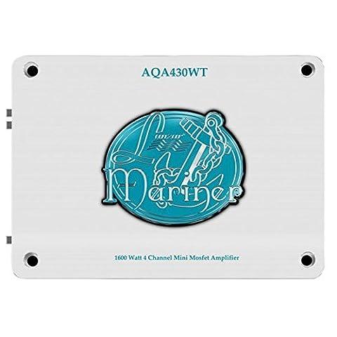 Lanzar AQA430WT Amplificateur 1600 Watts 4 canaux Mini Mosfet Marine