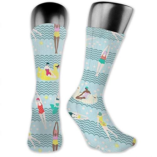Unisex Unique Design Nay Blue Airplane Socks 60 cm Socks Cotton/nylon/spandex. Socks Socks & Tights
