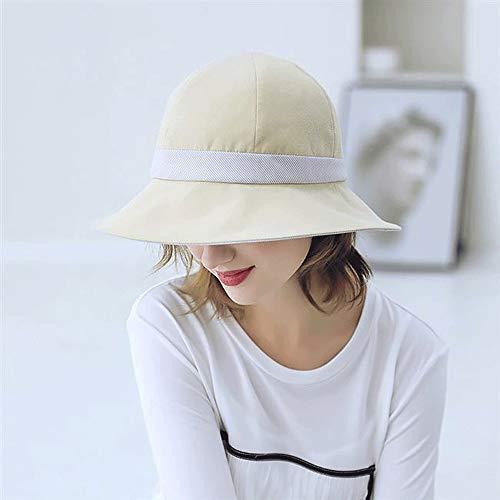Geändert Bekleidung (Unbekannt Wen Zhe Fischerhut Weiblicher Sommer Korean Art Wild Sun Hat Visor Sonnenhut (Color : White))