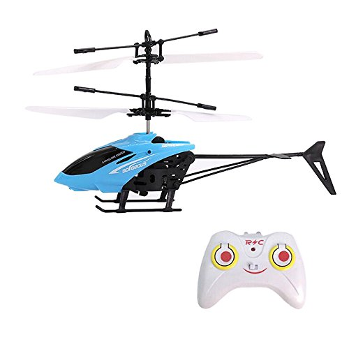 Mini Flying RC Helicopter, Rcool Creative Hand Suspension RC Helicopter Aircraft Infrared Sensing Induction Flying Drone Toy with Colorful LED Lighting Flashing & Remote Control for Kids and Adults (Blue) Reviews