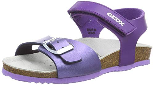 Geox J New Aloha Girl D, Sandali Punta Aperta Bambina, Viola (Purple/Violet Cg8n8), 36 EU