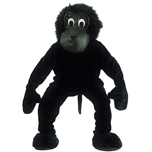 - Gorilla Herrenkostüm, Kopf und Füße separat, Universal L-XXL ()