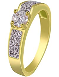MUCH MORE Fabulous Gold Plated Ring With Cz Stone