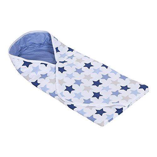 LITTLE DUTCH 3058 Wickeltuch Mixed Stars Blue Größe: 108 x 95 cm