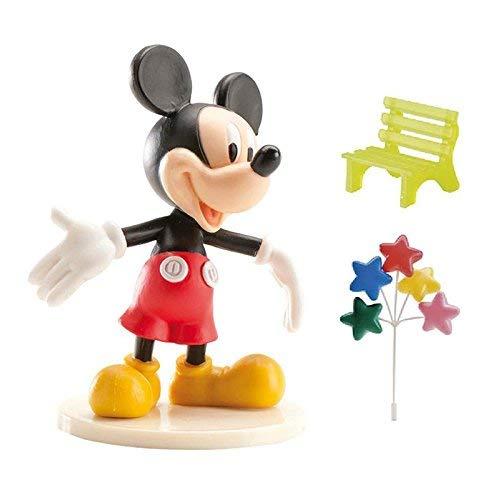 Kit de 3 décorations pour gâteau Mickey en plastique.