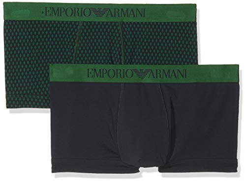 Emporio Armani Underwear Herren 111210 Shorts, Mehrfarbig (Rombo Smer-Mar/Marin 13785), Medium
