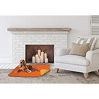 Elegant CSARANCIOGIALLO60 Cojín para Perros Naranja y Amarillo 40x30x10 cm
