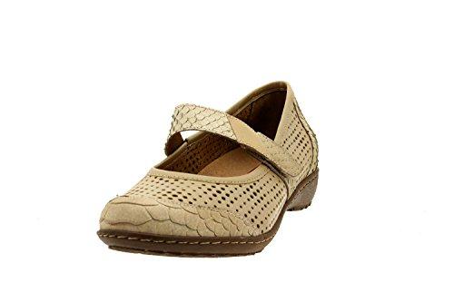 Scarpe donna comfort pelle Piesanto 8756 classiche basse soletta estraibile comfort larghezza speciale Beig