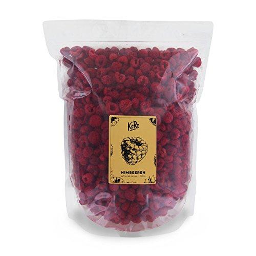 KoRo - Gefriergetrocknete Himbeeren 500 g - Trockenfrüchte, Schonend Getrocknete Frucht, Pflanzliche Naturkost