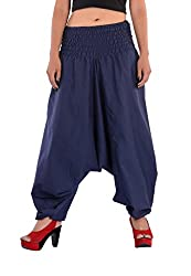 Indi Bargain Cotton Plain Afghani Trouser with broad panel (309NBlue)