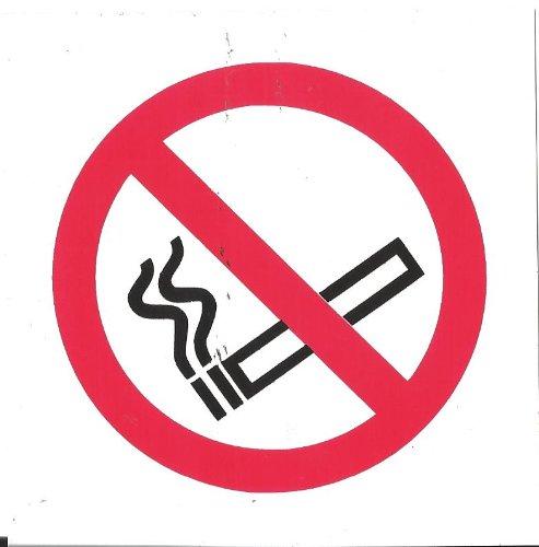 NO SMOKING NEW SYMBOL SIGN SELF ADHESIVE TAXI MINIBUS BUS COACH 100x100mm by FSSS Ltd