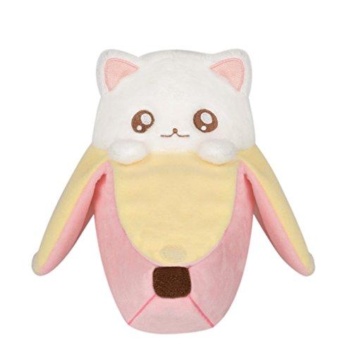 Bananya Plüsch Figur Baby Katze zum Anime 16cm rosa weiß