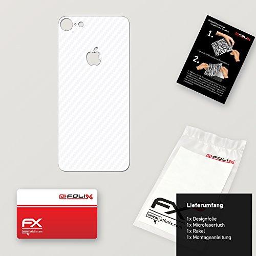 """Skin Apple iPhone 7 """"FX-Velvet-Black"""" Designfolie Sticker FX-Carbon-Alpine"""