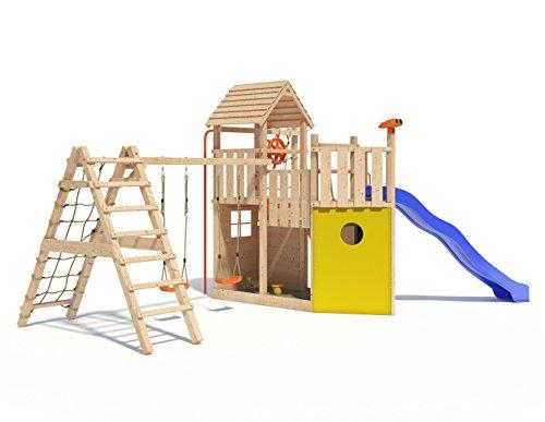 Kon Tiki Neo Spielturm Kletterturm Baumhaus Rutsche Schaukeln (erweiterter Schaukelanbau)