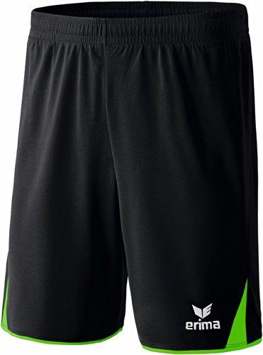 Erima Erwachsene Shorts 5-Cubes, Schwarz/Green, L, 615402