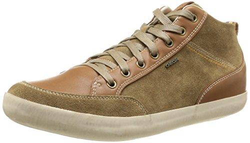 Geox U Box D, Herren Sneaker  Braun Braun 45