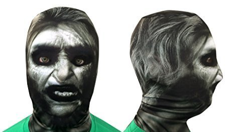 Weiß Hexe V23D Effekt Gesicht Haut Sensenmann hergestellt in - Für Erwachsene Professionelle Clown-kostüme
