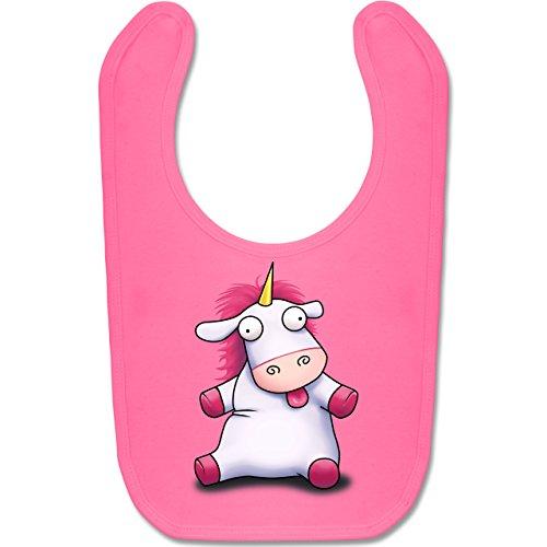 Up to Date Baby - Süßes, flauschiges Einhorn - Unisize - Pink - BZ12 - Baby Lätzchen Baumwolle