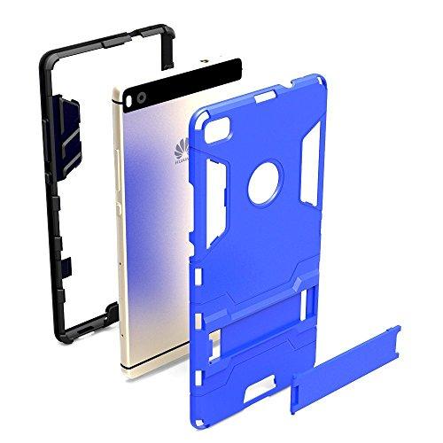 Lantier Huawei P8 chute [qualité] [correspond parfaitement] [peau de maturité de son style] 2 en 1 combo robuste à double couche [cas grave] coup amovible tenir [Cover Hard Case]] [52inch Huawei P8 co Huawei Ascend P8 noir