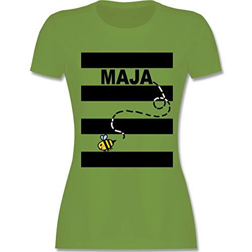 Karneval & Fasching - Bienen Kostüm Maja - M - Hellgrün - L191 - Damen Tshirt und Frauen T-Shirt (Honig Bienen Kostüme Für Babys)