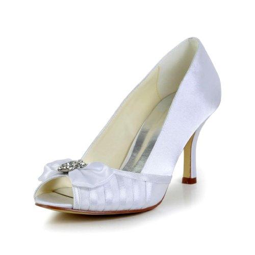 Jia Jia Wedding A31B23 Scarpe Sposa Scarpe col tacco donna Bianco