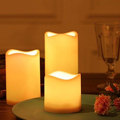 Allright LED Kerzen 9,5/11,5/,14,5cm Set dekorative und stromsparende für Hochzeit, Geburtstags mit Timer flackernde flammenlose Kerzen flackernd Außen Outdoor