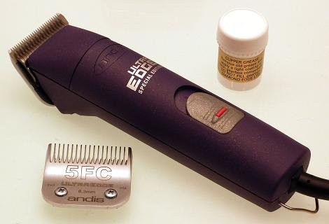 Andis AGC Super 2 speed Dog Grooming Clipper in purple with size 10 & 5FC blades and FREE grease