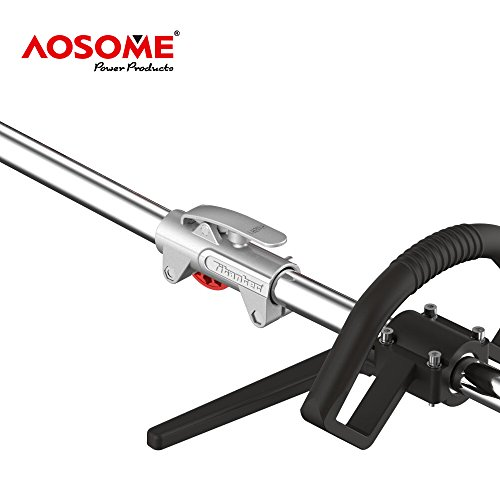 AOSOME 52CC Petrol Multi Function Garden Tool – Hedge Trimmer, Strimmer, Brush Cutter, Pruner Chainsaw & Extension Pole