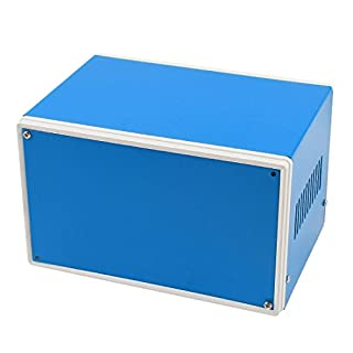 Blue Metal Electrical Switch Protector Junction Box Case 175x130x106mm