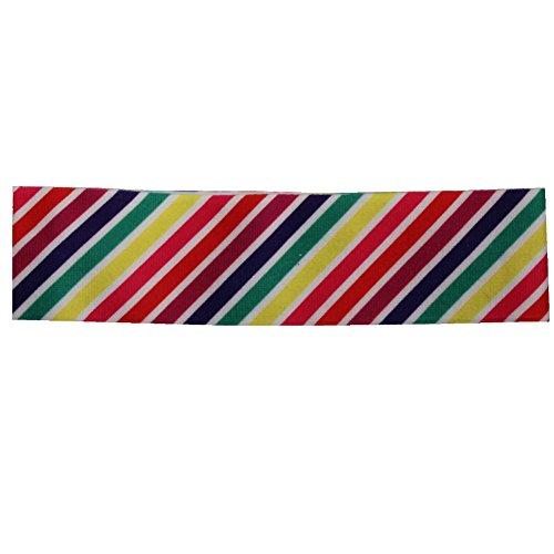 JUSTFOX - Süßes Mädchen Haarband Diagonale Streifen (Diagonal-streifen-schal)
