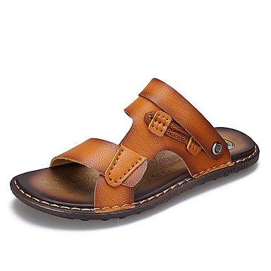 Neue Mode Männer Sommer Sandalen aus echtem Leder Sandalen 2017 atmungsaktivem Rindsleder lässigen Sandalen Hausschuhe Herrenschuhe Sandalen Brown