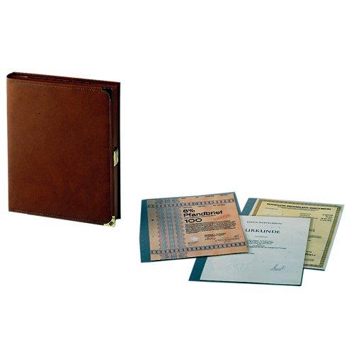 SAFE 445 Dokumentenkassette Dokumentenmappe DIN A4 mit 10 Taschen für Zeugnisse & Urkunden & Registerauszüge & Aktien