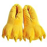 Aivtalk - Zapatillas Creative Animal Garras Franela Suave Para Adultos Zapatos de Disfraz Para Carnaval Halloween Navidad Cosplay Talla EU 28-34 - Amarillo