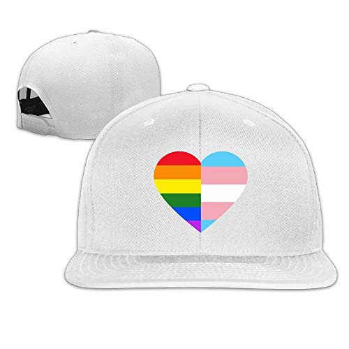 Unisex-Hysteresenkappen, Mode-LGBT-Regenbogen und Transgender-Stolz-Flaggen-justierbares Hip-Hop-Flach berechnete Baseballmützen