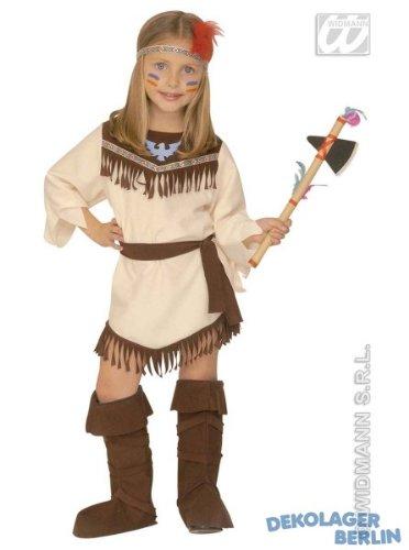 Widmann-WDM4378G Kostüm für Jungen weiß braun WDM4378G (Make Up Ideen Für Indianer Kostüm)