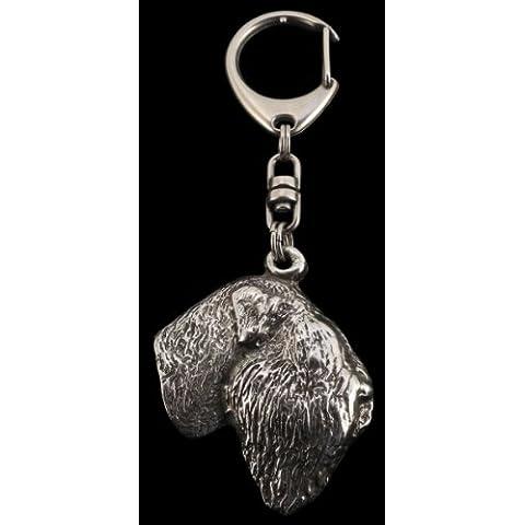 TerrierRuso Negro, llavero del perro, ArtDog