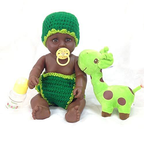 LYHY Lebensechte silikon Vinyl neugeborenen babypuppen afroamerikaner waschbar weiche wiedergeborene Puppe geben für Kinder und mädchen Urlaub Geburtstagsgeschenk African Black Dolls
