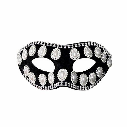 Masken Gesichtsmaske Gesichtsschutz Domino falsche Front Einfachheit Maske Mann Paarmaske weiß